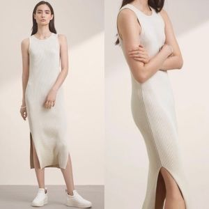 Aritzia Cream Babaton Dress